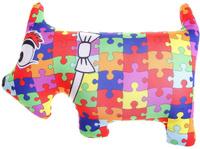Купить Мнушки Мягкая игрушка-антистресс Собака пазл 27 см 164051, Сима-ленд, Развлекательные игрушки