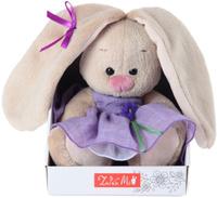 Купить Зайка Ми Мягкая игрушка Зайка Ми в платье с цветочком цвет фиолетовый 15 см, Мягкие игрушки