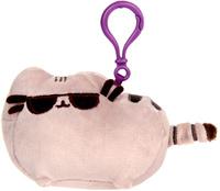 Купить Gund Мягкая игрушка-брелок Кошка Pusheen Backpack Clip Sunglasses 9 см, Сима-ленд, Мягкие игрушки