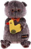 Купить Басик и Ко Мягкая игрушка Басик с уточкой 22 см 279575, Сима-ленд, Мягкие игрушки
