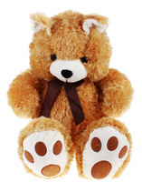 Купить Флиппер Тойз Мягкая игрушка Мишка цвет бежевый 75 см 632515, Сима-ленд, Мягкие игрушки