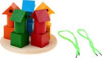 Купить Sima-land Пирамидка Башенки цветные со шнуровкой, RNToys, Развивающие игрушки