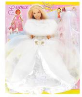 Купить Евгения-Брест Одежда для кукол Платье цвет белый, Куклы и аксессуары