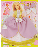 Купить Евгения-Брест Одежда для кукол Платье цвет розовый золотой белый, Куклы и аксессуары
