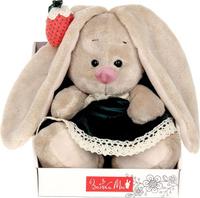 Купить Зайка Ми Мягкая игрушка Зайка Ми в бархатном платье и клубничкой на ушке 15 см, Мягкие игрушки