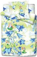 Купить Комплект белья Браво Кидс Дюймовочка , 1, 5-спальный, наволочка 70x70, цвет: зеленый