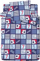 Купить Комплект белья Bravo Кидс Матч , 1, 5-спальный, наволочки 70x70, цвет: синий, Браво Кидс