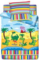 Купить Комплект белья Браво Кидс Дино , 1, 5 спальное, наволочки 70x70, цвет: разноцветный. 4076-1, Постельное белье