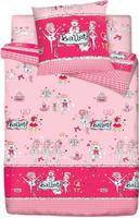 Купить Комплект белья Браво Кидс Балет , 1, 5-спальный, наволочка 70x70, цвет: розовый, Постельное белье