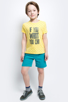 Купить Футболка для мальчика Button Blue Main, цвет: желтый. 117BBBC12042713. Размер 110, 5 лет, Одежда для мальчиков