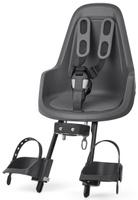 Купить Велокресло переднее Bobike One Mini , крепление на руль, цвет: серый