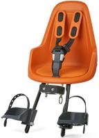 Купить Велокресло переднее Bobike One Mini , крепление на руль, цвет: оранжевый