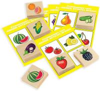 Купить Развивающие деревянные игрушки Лото Овощи фрукты ягоды Д533а