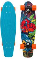 Купить Пенни борд Penny Nickel , цвет: голубой, оранжевый, красный, дека 69 х 19 см