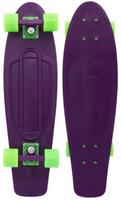 Купить Пенни борд Penny Nickel , цвет: фиолетовый, салатовый, дека 69 х 19 см Уцененный товар (№2), Скейтборды и пенни борды