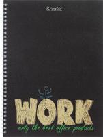 Купить Тетрадь на спирали Work , цвет: черный, 100 листов, формат А4, Kroyter