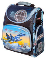 Купить Ранец школьный Hummingbird Iron Maiden Army , цвет: тесно-синий, голубой. K75, Ранцы и рюкзаки