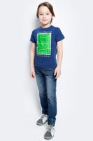 Купить Футболка для мальчика Modniy Juk Ground, цвет: темно-синий. 01В00070100. Размер 116, Одежда для мальчиков