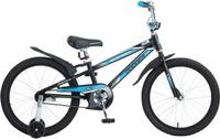 Купить Велосипед детский Novatrack Dodger , цвет: черный, голубой, 20 , Велосипеды