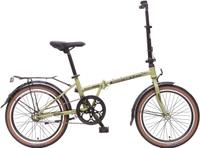 Купить Велосипед складной Novatrack Aurora , цвет: зеленый, черный, 20 , Велосипеды