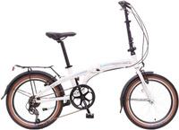 Купить Велосипед складной Novatrack TG-20 , цвет: белый, черный, голубой, 20 , Велосипеды