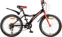 Купить Велосипед детский Novatrack Racer , цвет: черный, красный, 20 , Велосипеды