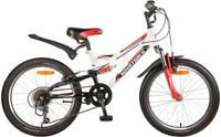 Купить Велосипед детский Novatrack Shark , цвет: белый, красный, черный, 20 , Велосипеды