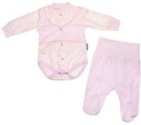 Купить Комплект для девочки Клякса: боди, ползунки, цвет: экрю, розовый. 33к-5197. Размер 80, Одежда для новорожденных
