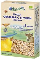 Купить Fleur Alpine Organic каша молочная овсяная с грушей, с 5 месяцев, 200 г, Детское питание