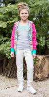 Купить Майка для девочки Luminoso, цвет: серый меланж. 718014. Размер 134, Одежда для девочек
