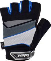 Купить Перчатки велосипедные Idol Lech , цвет: черный, синий. Размер XL, Велоперчатки