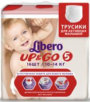 Купить Libero Трусики-подгузники Up&Go Size 5 (10-14 кг) 16 шт, Подгузники и пеленки