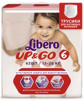 Купить Libero Трусики-подгузники Up&Go Size 6 (13-20 кг) 62 шт, Подгузники и пеленки