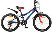 Купить Велосипед детский Novatrack Flyer , цвет: синий, красный, 20 , Велосипеды