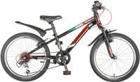 Купить Велосипед детский Novatrack Pointer , цвет: черный, красный, 20 , Велосипеды