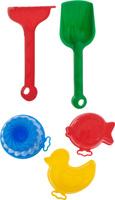 Купить Marioinex Набор для песочницы 5 предметов П-0130, Игрушки для песочницы