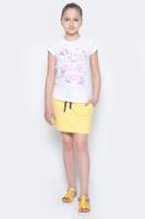 Купить Юбка для девочки Button Blue Main, цвет: желтый. 117BBGC55012700. Размер 134, 9 лет, Одежда для девочек