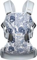 Купить BabyBjorn Рюкзак для переноски ребенка One Soft Cotton Mix Листья цвет светло-голубой, Рюкзаки, слинги, кенгуру