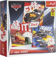 Купить Trefl Пазл для малышей Тачки 3 в 1, Trefl Puzzle, Обучение и развитие
