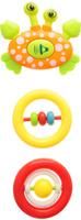 Купить Ути-Пути Набор погремушек цвет оранжевый салатовый желтый 3 шт, Первые игрушки