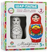Купить Шар-папье Набор для изготовления игрушек Матрешка 2 шт, Игрушки своими руками