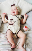 Купить Боди для девочки Lucky Child Летнее кафе, цвет: бежевый, коричневый. 23-51. Размер 68/74, Одежда для новорожденных