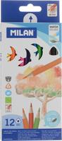 Купить Milan Набор цветных акварельных карандашей 12 шт, Карандаши