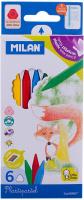 Купить Milan Мелки восковые 6 цветов, Мелки и пастель