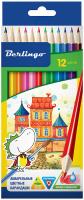 Купить Berlingo Набор цветных акварельных карандашей Сказочный город 12 шт, Карандаши