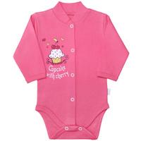 Купить Боди для девочки Веселый малыш Спелая вишня, цвет: розовый. 141/322/св-B (1). Размер 62, Одежда для новорожденных