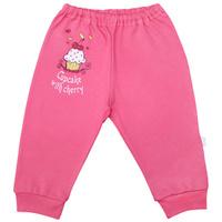 Купить Штанишки для девочки Веселый малыш Спелая вишня, цвет: розовый. 33320/св-C (1). Размер 68, Одежда для новорожденных