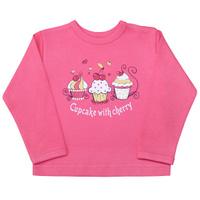 Купить Лонгслив для девочки Веселый малыш Спелая вишня , цвет: розовый. 66322/св-C (1). Размер 68, Одежда для новорожденных