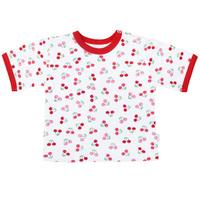 Купить Футболка для девочки Веселый малыш Спелая вишня , цвет: белый, красный. 67322/св-C (1). Размер 68, Одежда для новорожденных