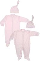 Купить Комплект для девочки Клякса: комбинезон, шапочка, цвет: розовый, 2 шт. 33к-5261. Размер 74, Одежда для новорожденных